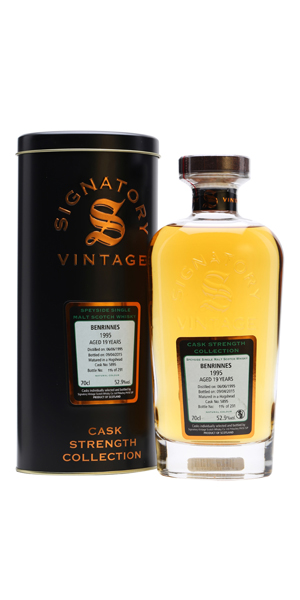BENRINNES SIGNATORY CASK STRENGTH COLLECTION 1995 SINGLE MALT SCOTCH WHISKY 19 YEARS 52,9% VOL 0,7L